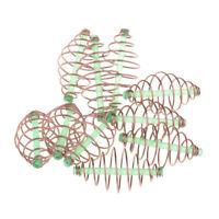 Perfeclan 10pcs Bait Thrower Spring Coil Inline Method Feeder 3.5x1.8cm