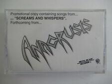 Anacrusis Screams & Whispers Promo Cassette Progressive/Thrash Metal Signed