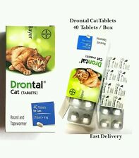 Bayer Drontal for Cat 40 Tablets per Box Dewormer Allworms Round and Tap Worm