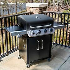 Bbq Gas Grill 4 Burner Black Stainless Steel Outdoor Cooking Patio Barbecue New