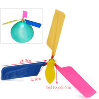 Lot Cheap Funny Balloon Helicopter Flying Toy For Kids Boy Girl Gift Party Decor