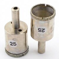 "2Pcs 25mm 1"" inch Diamond Coated Drill Bit Hole Saw Cutter Glass Tile Ceramic"