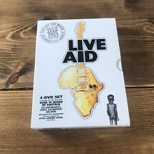 LIVE AID JULY 13TH 1985 4 DISCS + BOOKLET 2004 DVD BOX SET QUEEN COMPLETE