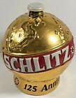 Schlitz 125th Anniversary 1974 Gold Plated Globe Decanter Ceramarte