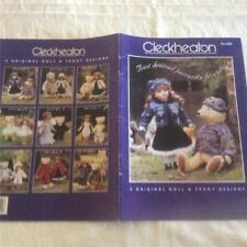 CLECKHEATON KNITTING  BOOK No. 038 - 9 ORIGINAL DOLL & TEDDY DESIGNS KNIT