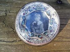 RARE EARLY 1920s PAPERWEIGHT WITH PHOTO OF EDWARD ROZYCKE 1914-1927 - NICE ITEM
