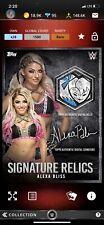 Topps WWE Slam Alexa Bliss Signature Relic Weekly Limited Rare New Digital