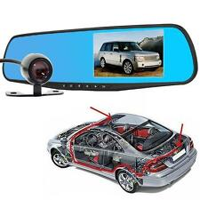 Car Rearview Reversing Video Camera Mirror DVR Dashcam 4.3 inch Monitor 1080P HY