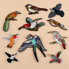 New Embroidered Cute Bird Iron On Sew On Patches Hat Jeans Clothes Applique DIY
