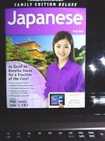 Japanese Instant Immersion DELUXE Family Edition Levels 1,2 & 3 NEW