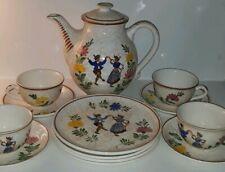 Vintage Majolika Schramberg Germany SMF Handemalt Bavarian 13 Piece Tea Set
