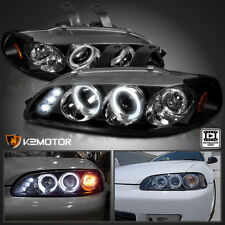 For 1992-1995 Honda Civic 2/3/4Dr LED Halo Projector Headlights [JDM Black]