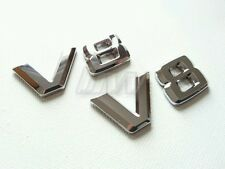 2x V8 badges chrome effet mercedes benz C63 S63 E63 ML63 SL63 SL55 CLK55 SL500