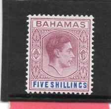 Bahamas GV1 1938 5s lilac & blue sg 156 LH.Mint