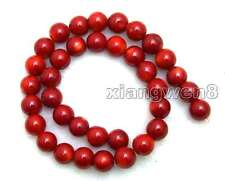 """Round 12-13mm Red Natural Coral Beads for Jewelry Making DIY Loose Strand 15"""""""
