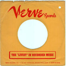 VERVE RECORDS COMPANY 45RPM RECORD SLEEVE - EXCELLENT CONDITION