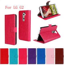 For LG G2 D800 D801 D802 Flip Leather Stand Wallet Case Cover Credit Card Holder
