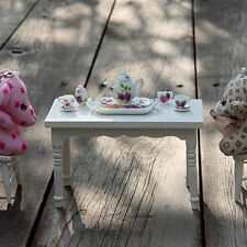 8 PCS Dollhouse Miniature Tea Set  Porcelain Dish/Cup/Plate Purple Flower