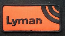 "LYMAN EMBROIDERED SEW ON PATCH GUN SIGHT AMMUNITION FIREARMS BULLET 4 1/2"" x 2"""