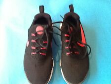 WOMEN'S/GIRL-NIKE TRAINERS-RUN-GYM-TRAINING-3.5 /36-BLACK/ ROSE-CANVAS-LACES-VGC