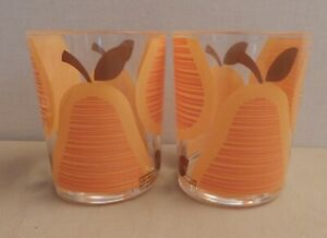 set of 2 ORLA KIELY Target Collection Tumbler ORANGE PEAR 2009 Collection