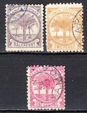Samoa - 1886 Definitives palm tree - Mi. ex. 8-14 VFU