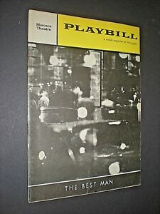 """PLAYBILL MAGAZINE. MAY 1961. """"THE BEST MAN"""" by GORE VIDAL"""