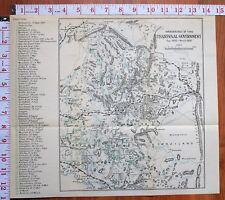 BOER WAR ERA MAP/BATTLE PLAN TRANSVAAL GOVERNMENT WANDERINGS DIRECTIONS 1902