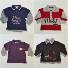 3Pommes Boys Shirts 12 Months Lot of 4 Long Sleeve X10