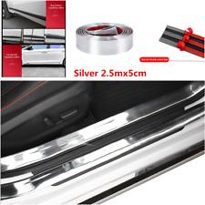 2.5m Silver Rubber Car Sticker Door Sill Scuff Cover Protector Strip Accessories