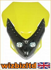 Motocross MX Twin Lights Spectre Fairing Headlight With Fixings HLUSPEY