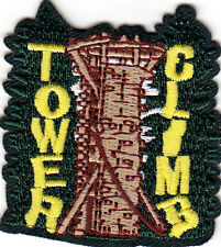 """ TOWER CLIMBING"" - SPORTS  - ATHLETIC - Iron On Embroidered Applique Patch"