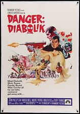 Danger DIABOLIK 1968 U.S 1 Sheet poster linen-backed Mario Bava Film/Art Gallery