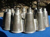 Antique VTG TIN MOLD Saxony GERMANY Bullet CASTLE Primitive