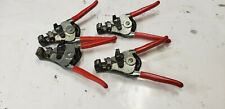 4-Pc Ideal 45-266 Rg-62 Coax Stripmaster Hand Cable Stripper Lb-744 Blade. Used