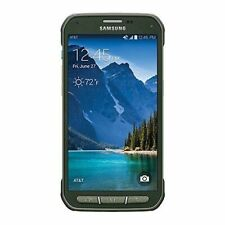 Samsung Galaxy S5 Active G870A Used Burned Smartphone GSM Unlocked - Camo Green