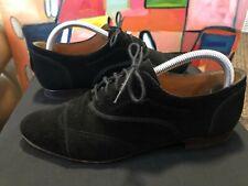 Lanvin Paris Richelieu Black Calfskin Shoes