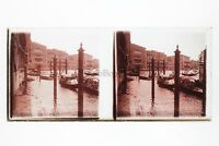 Venezia Italia Foto Amateur Placca Da Lente N4 Stereo Ca 1920