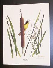 "Ray Harm Hand Signed Print ""Yellow-throat"" w/Original Envelope"
