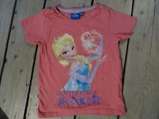 T-shirt manches courtes rose imprimé Elsa La Reine des Neiges taille 4-5 ans