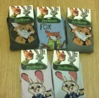 6 x pairs joblot  Zootopia Zootropolis Ankle Girls Socks NEW  Size 12-3