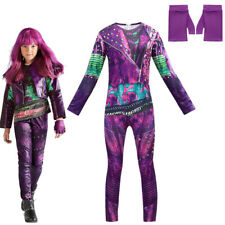 Descendants 3 Mal Costume Girls Halloween Cosplay Jumpsuits+Gloves Fancy Outfits