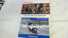 2009 HONDA CBR600RR/A OWNERS MANUAL + YOU AND YOUR MOTORCYCLE RIDING TIPS