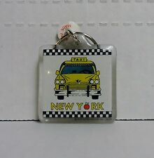 New York, Taxi Cab, Square Plastic Keychain by City Merchandise, BRAND NEW