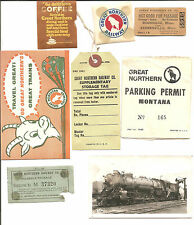 Great Northern Railway Paper Bonanza -- Four Paper items