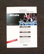 [GCG] L460- Advertising Pubblicità - ALITALIA , LE FORMULE CHE ANNO FATTO STORIA
