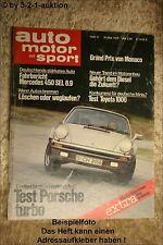 AMS Auto Motor Sport 11/75 Porsche Turbo DDB 450 SEL 6.9 Toyota 1000