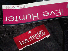 EVE HUNTER BlackCrushSatinFrilledPartySize18Lrrp$129