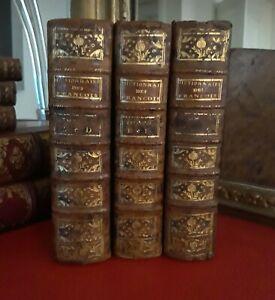 °Rel.XVIII°3/3 vol- Dictionnaire Historique Mœurs, Usages, Coutumes des Français