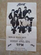 Molly Hatchet Vintage Band Concert 8.5x14 Starzz Springfield, Mo Flyer 1990's